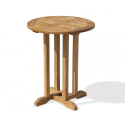 Canfield Teak Small Round Wooden Table – 0.6m