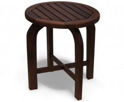 Capri Antique Wood Round Table, Teak