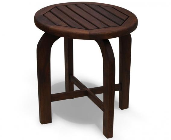 Capri Antique Wood Round Table, Teak