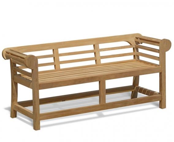 Low Back Teak Lutyens Bench - 1.65m