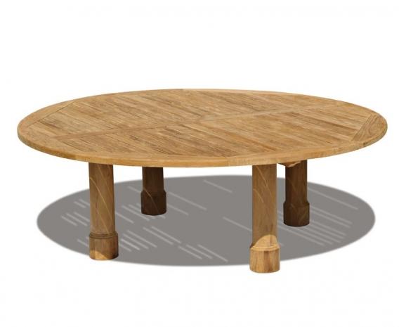 Titan Teak Round Garden Table – 2.2m
