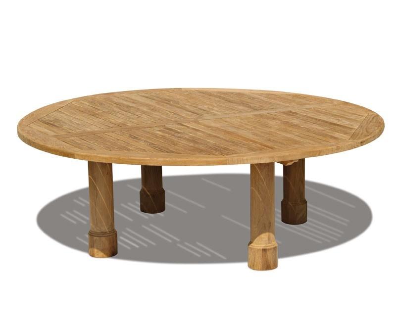 Titan Teak Round Outdoor Patio Table Garden Dining Round Leg 15m