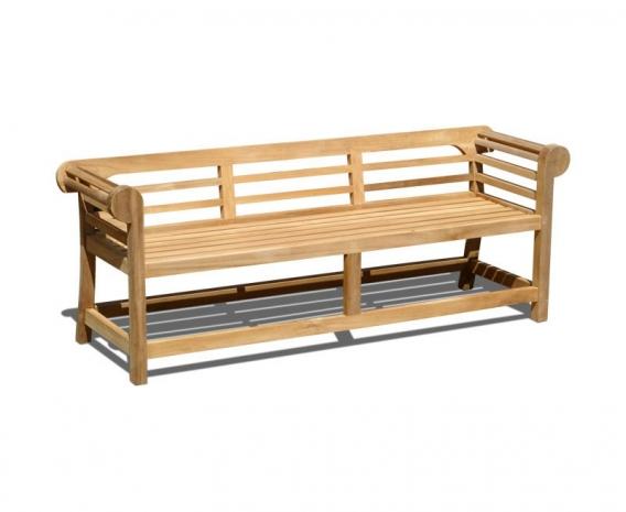 Low Back Teak Lutyens Bench - 1.95m