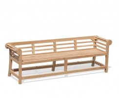 Teak Lutyens-Style Garden Bench, Low Back – 2.25m