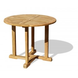 Canfield Teak Small Round Garden Table – 0.8m