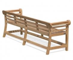 Low Back Teak Lutyens Bench - 2.25m