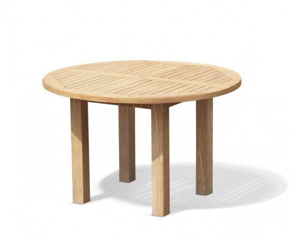 Titan Teak Round Outdoor Dining Table Square Leg 1 2m