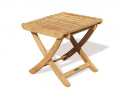 Cheltenham Teak Adjustable Footstool / Side Table