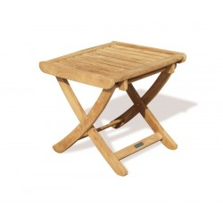 Cheltenham Adjustable Footstool, Teak Side Table