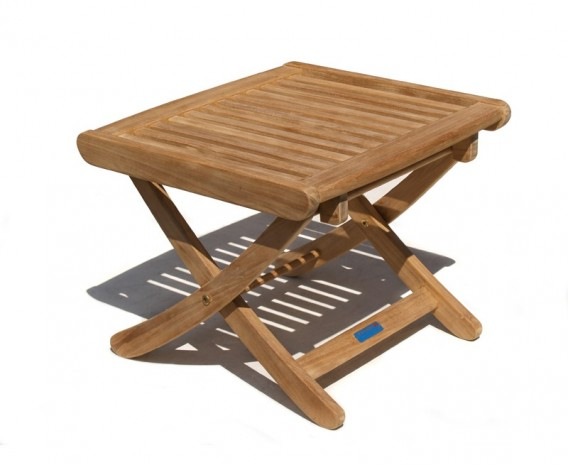 Bali Teak Folding Footstool / Side Table