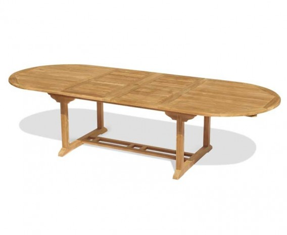 Brompton Double Extending Oval Table – 2 - 3m