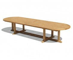 Hilgrove Teak Oval Extra-Large Garden Table – 4m
