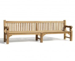 Balmoral Heavy-Duty Public Park Bench, Large Outdoor Bench  – 3m
