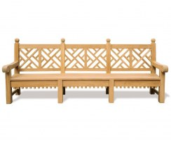 decorative teak garden bench