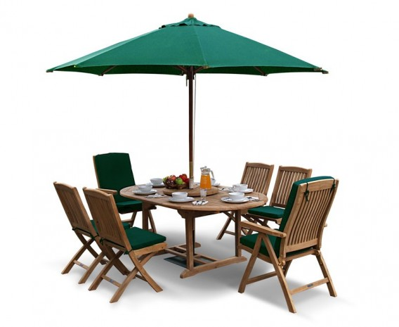 Brompton Extending 1.2 - 1.8m Table & 6 Bali Chairs