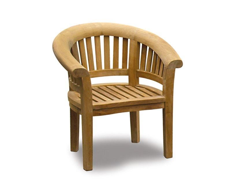 Deluxe Banana Chair, Wooden Garden Tub Chair