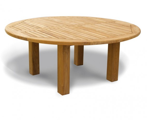 Titan 6ft Solid Wood Round Patio Dining Table Teak