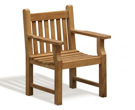 Taverners Teak Wooden Garden Armchair