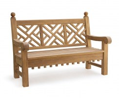 lattice decorative bench