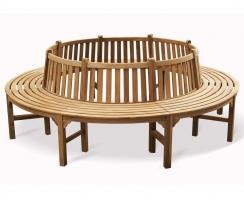 Bespoke Teak Round Tree Seat