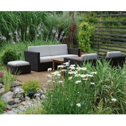 Riviera Rattan 4-piece Sofa Set, Wicker Patio Sofa Set