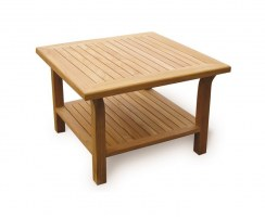 Square Teak Day Table – 0.9m