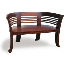 Kensington 2 Seater Indoor Deco Bench Reclaimed Teak 1 31m