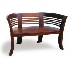 Kensington 2 Seater Teak Indoor Bench – 1.31m