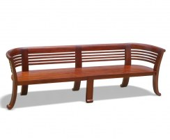 Kensington Large Indoor Deco Bench, Reclaimed Teak, Bespoke – 2.5m