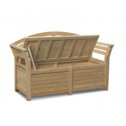 wooden outdoor Storage Bench 1.65m
