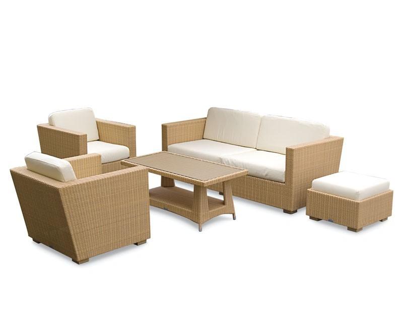 Riviera Rattan Garden Sofa Set Rattan 5 Piece Sofa Set
