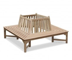 Teak Square Bench, Wrap Around Bench – 1.8m
