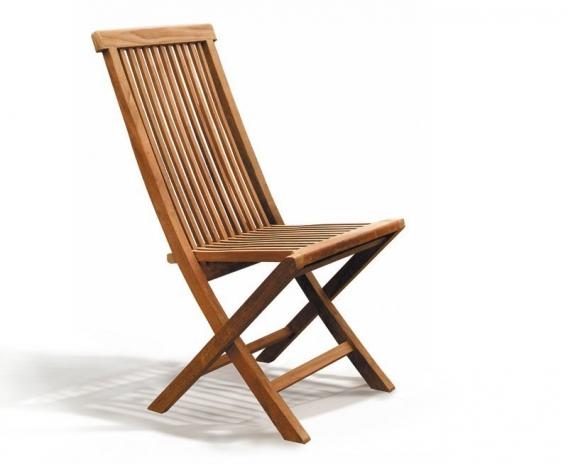Ashdown High Back Garden Chair Foldable Teak