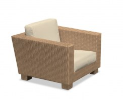 rattan conservatory armchair