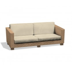 Sorrento Large 4 Seater Rattan Garden Sofa – 1.93m