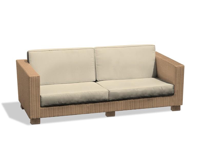 ... Sorrento Large 4 Seater Rattan Garden Sofa U2013 1.93m