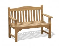 Tribute Garden Memorial Bench, Teak 4ft Commemorative Bench – 1.2m
