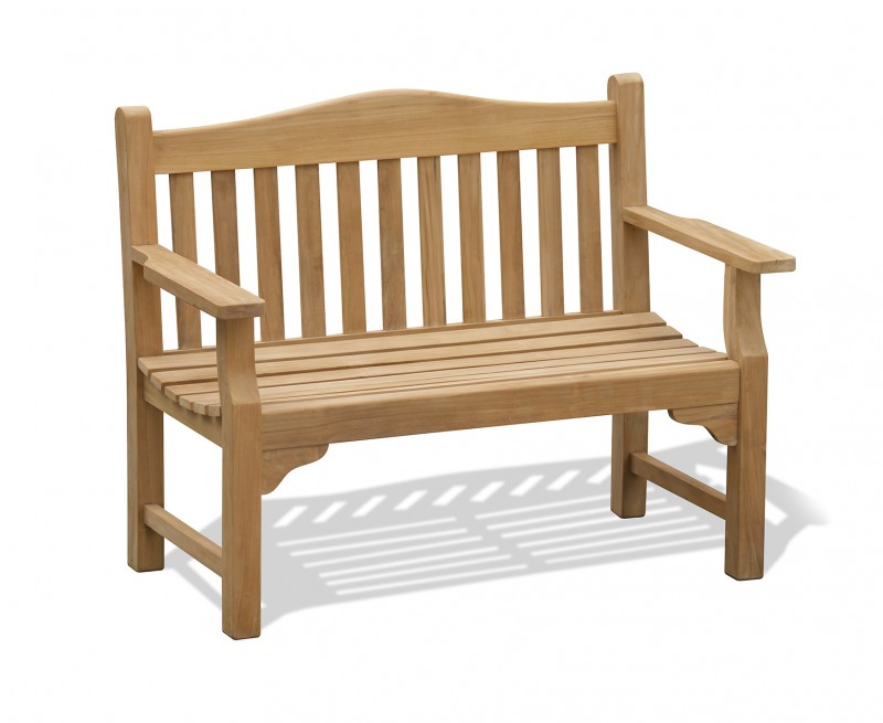 Tribute Garden Memorial Bench, Teak – 1.2m