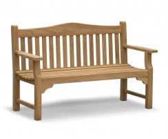 Tribute Garden Memorial Bench, Teak 5ft Commemorative Bench – 1.5m