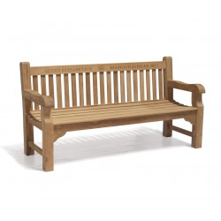 Balmoral Teak Queen's Diamond Jubilee Commemorative Bench – 1.8m