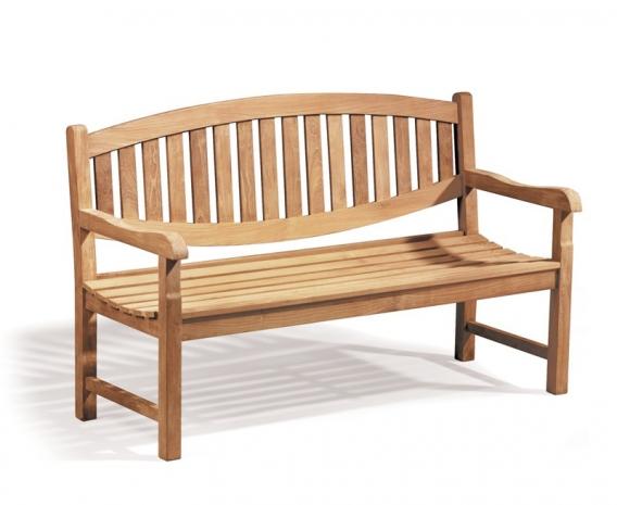 Ascot 3 Seater Teak Garden Bench – 1.5m