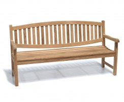 Ascot Teak Garden Bench, Outdoor Wooden Bench Seat – 1.8m