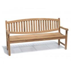 Ascot 4 Seater Teak Garden Bench – 1.8m