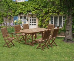 Brompton Bijou Extending 1.2 - 1.8m Table & 6 Rimini Chairs