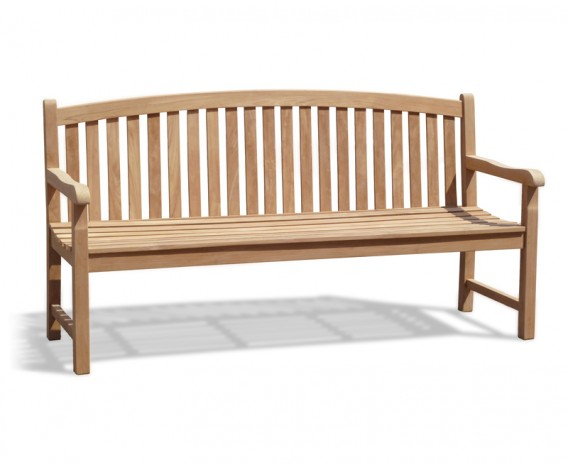 Clivedon 4 Seater Garden Bench, Teak – 1.8m/6ft