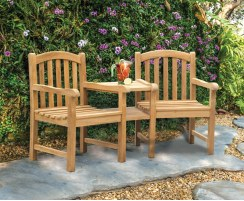 Clivedon Teak Companion Seat, Jack and Jill Seat