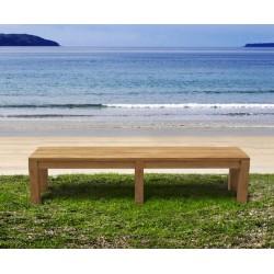 2m backless garden bench
