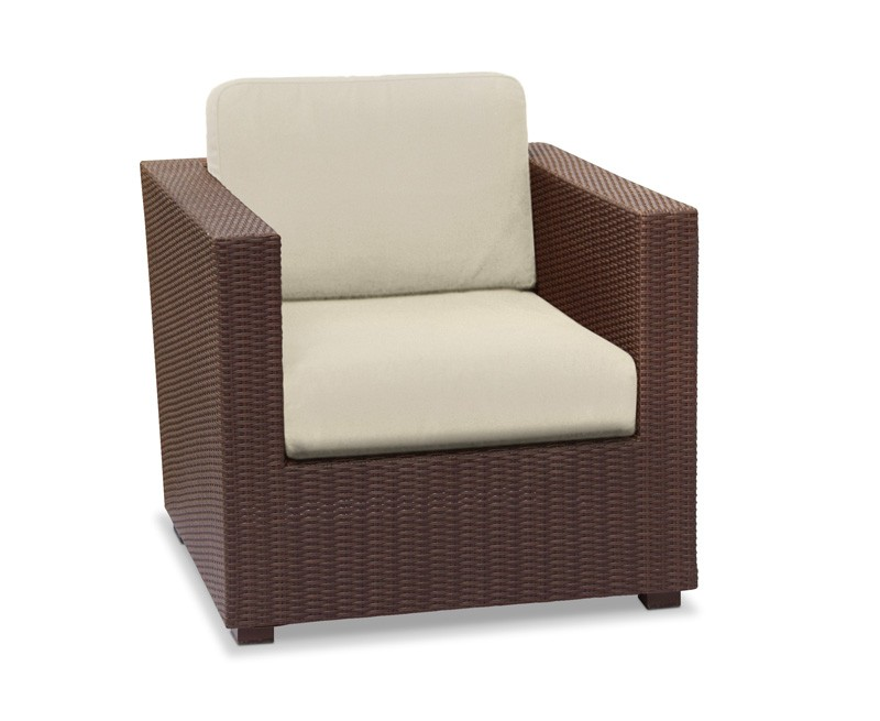Riviera Outdoor Rattan Armchair, Wicker Sofa Chair