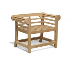 Lutyens-Style Armchair, Low Profile Teak Garden Chair