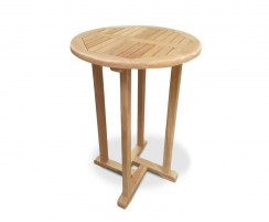Canfield Teak Fixed Round Garden Bar Table